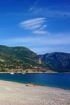 One of the most photographed beaches in Turkey:  Oludeniz Beach