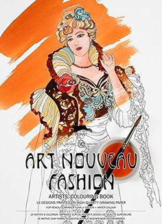 Artists' Colouring Book Art Nouveau Fashion null