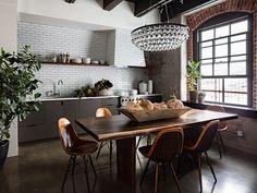Лофт — кухня, а не чердак! Все о стиле лофт в интерьере кухни   Сельское хозяйство