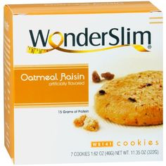 WonderSlim High Protein Diet Cookie  Oatmeal Raisin 7 ServingsBox *** Read more reviews of the product by visiting the link on the image.