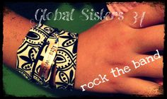 Triple wrap fabric bracelet #globalsisters34