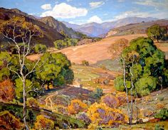 William Wendt (1865-1946). When Fields Lie Fallow, 1931. Oil on Canvas, Height: 101.6cm (40 in.), Width: 127cm (50 in.)