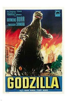 GODZILLA italian poster RAYMOND BURR campy monster horror 24X36 CLASSIC Brand New. 24x36 inches. Will ship in a tube. - Multiple item purchases are combined the next day and get a discount for domesti