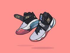 Nike Kyrie 2 Doernbecher Byandygrass designed by Chus 👽. Bo Jackson Shoes, Kyrie Irving Celtics, Swag Cartoon, Kyrie Irving Shoes, Trap Art, Nba, Nike Shoes, Sneakers Nike, Dope Cartoons