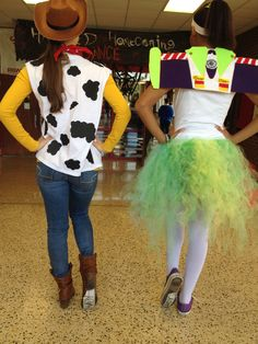 Woody and Buzz Lightyear costumes homemade