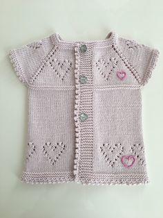 Chaleco para niñas tejido a mano calado - Modelos de punto - Mod de encaje de punto . Baby Knitting Patterns, Knitting For Kids, Lace Knitting, Crochet For Kids, Knitting Stitches, Knitting Designs, Knitting Socks, Baby Patterns, Knit Baby Sweaters