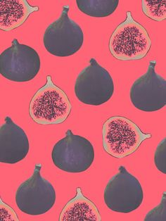 Fig pattern Art Print- This as Wallpaper- in a powder room would be absolutely so amazing!