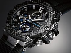 For lovers of G-SHOCK watches who want even more substance, the G-STEEL is the one to wear. The solar-powered watch features a steel case, G Shock Watches, Casio G Shock, Cool Watches, Watches For Men, Wrist Watches, G Shock Mudmaster, Shock And Awe, Solar Powered Led Lights, Watches Photography