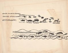 Preliminary art for front endpapers of Life Story - Children's Literature