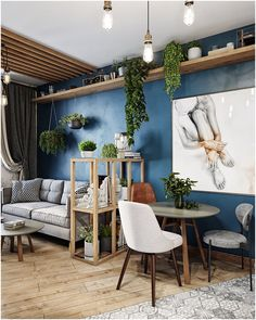 99 of the most popular living room decoration design ideas ~ Top Home Design Apartment Walls, Small Apartment Interior, Apartment Design, Room Interior, Home Interior Design, Design Interiors, Cozy Living Rooms, Home Living Room, Living Room Designs
