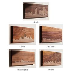 CITY SKYLINE WOODEN ROUTING | California, San Francisco, New York City, Las Angeles, Urban, Contemporary, Modern, Wall Decor | UncommonGoods