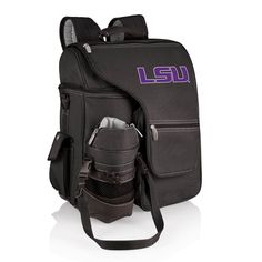 Picnic Time 641-00-175-292-0 Turismo LSU Tigers Embroidered Backpack in Black