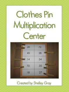 Freebie! In this easy-to-create math center, students will match the equation to the correct product by clipping the clothes pin to the product sheet.