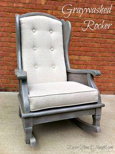 Restoration Hardware Style Graywashed Rocker!