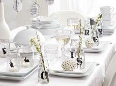 Deco table blanc