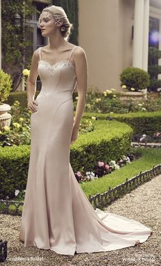 light flowing form with straps fitting a line sweetheart neckline wedding dress - Google Search