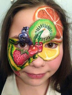 Mixed Fruits Face Painting - Unique.