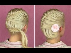 French fishtail braid tutorial for short and long hair Side bun updo hairstyles