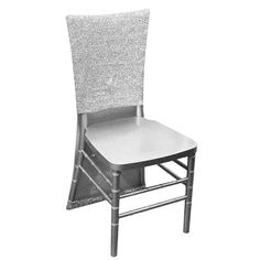 Metallic Glittering Shiny Silver Spandex Stretch Chair Slipcover Chair Bows, Chair Sashes, Furniture Slipcovers, Slipcovers For Chairs, Chair Cushions, Outdoor Chairs, Dining Chairs, Banquet Chair Covers, Party Chairs