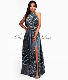 Chic Couture Online - Kamalie Gray Kaleidoscope Luxe Maxi Dress.(http://www.chiccoutureonline.com/kamalie-gray-kaleidoscope-luxe-maxi-dress/)