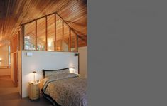 Clerestory above headboard for daylighting...Schmidt Residence | Cutler Anderson Architects