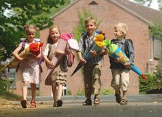 German tradition for the 1st day of school: Die Schultüte - a handmade paper cone stuffed with sweets, treats and toys