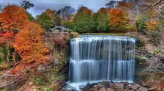 It's time for an Ontario road trip! 14 surreal places in Ontario Beautiful Waterfalls, Beautiful Landscapes, Hamilton Ontario Canada, Waterfall Wallpaper, Toronto Travel, Background Images Wallpapers, Wallpaper Backgrounds, Picture Places, Travel