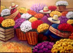 CUADROS DE LAS CHISMOSITAS - Buscar con Google Figure Painting, Love Painting, Peruvian Art, Silk Art, Arte Floral, Color Shapes, Naive Art, Mexican Art, Graphic Patterns