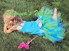 Couture Mermaid Dress for Girls by SashCouture1 on Etsy, $195.00