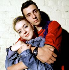 Ralf Little as Jonny and actress Sheridan Smith as Janet in Two Pints of Lager and a Packet of Crisps