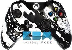 Custom White Splatter Xbox One Controller - KwikBoy Modz  #kwikboymodz #customcontroller #xboxone #customxboxonecontroller