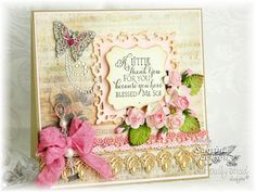 A Sabrina Jackson elegant card from Our Daily Bread Designs.  Love the vintage look of it.