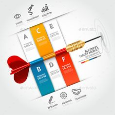 Business Target Marketing Dart Infographic
