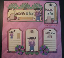 SCHOOL GIRL Premade Paper Piecings Border/Tag Set for Scrapbook Pages CHRIS TPHH