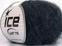 Kid Mohair Flamme Navy  Fiber Content 37% Kid Mohair, 35% Acrylic, 28% Polyamide, Navy, Brand Ice Yarns, Yarn Thickness 1 SuperFine  Sock, Fingering, Baby, fnt2-55898 Ice Yarns, Dark Grey, Navy, Luxury, Purple, Fiber, Kids, Content, Sock