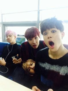 BTS RapMonster,J-Hope,V & Jimin