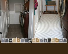 "Okay! How many of you out there have a room in your house with hideously unattractive floors? Sadly, I have a couple of them. Here's number one on The World's Fugliest Floors list. A couple weeks ago, I finally decided I had had enough of the ""life sucking"" laundry room floors and I decided that [Read More]"