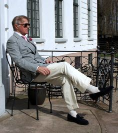 Independent Savile Row tailor specialised in soft tailoring. 3 decades experience, trained by his father John Hitchcock, at Anderson & Sheppard Dapper Gentleman, Gentleman Style, Gents Fashion, Timeless Fashion, Older Mens Fashion, Father John, Savile Row, Tassel Loafers, Black Suede