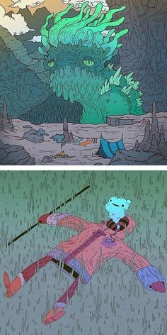 reminds me of Pendleton ward and adventure time