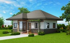 Basic 3 Bedroom House Plans Inspirational Two Bedroom Small House Plan Cool House Concepts Two Bedroom House Design, Three Bedroom House Plan, Small House Design, Bungalow Haus Design, Modern Bungalow House, Duplex House Design, Bungalow Floor Plans, Small House Plans, House Floor Plans