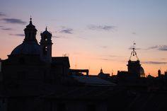 Roma Bellezza – View #Tramonto  #Sonnenuntergang #Sunset• Chiesa Nuova & Torre dell'Orologio