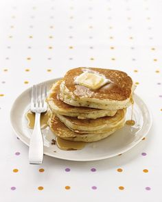 Basic Pancakes--       Ingredients  -1 cup all-purpose flour, (spooned and leveled)  2 tablespoons sugar  2 teaspoons baking powder  1/2 teaspoon salt  1 cup milk  2 tablespoons unsalted butter, melted, or vegetable oil  1 large egg  1 tablespoon vegetable oil  