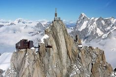 Aiguille du Midi - Mont Blanc... Highest peak in the Alps.  Located between France and Italy.  Yes, I went up... and yes, I was sick!