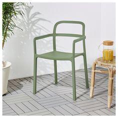 YPPERLIG Stol, inne/utendørs - grønn - IKEA