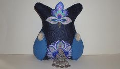Blue art owl plush feminine gift for a woman women by DarkPicketFence, $25.00 https://www.etsy.com/listing/158358325/art-owl-plush-feminme-gift-for-woman?ref=shop_home_active