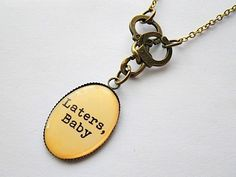 Fifty Shades of Grey: Laters, Baby brass necklace USD15 FREE SHIPPING