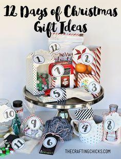 12 Days of Christmas Gift Ideas and printable