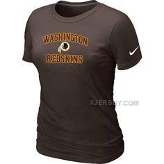 http://www.xjersey.com/washington-redskins-womens-heart-soul-brown-tshirt.html WASHINGTON REDSKINS WOMEN'S HEART & SOUL BROWN T-SHIRT Only $26.00 , Free Shipping!