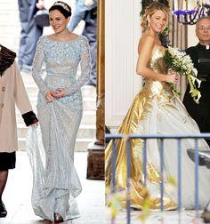 Blair & Serena wedding dresses.