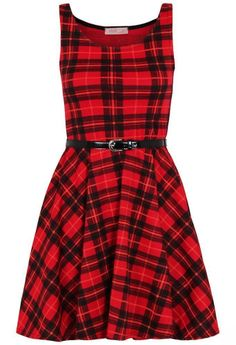 Fashion 4 Less Comfiestyle Womens Plus Size Tartan Check Print Belted Skater Dress Plus Size Red Dress, Plus Size Skater Dress, Skater Dresses Uk, Plus Size Maxi Dresses, Women's Dresses, Vintage Dresses, Tartan Dress, Houndstooth Dress, Maxi Dress With Sleeves